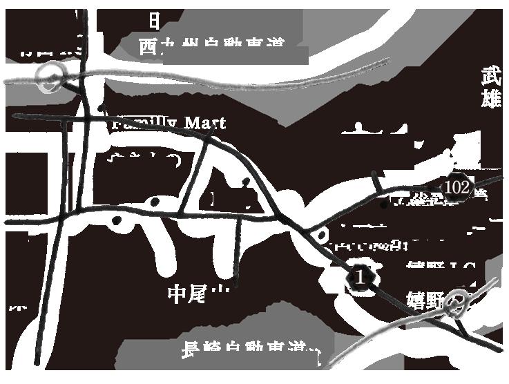 やきもの工房・ギャラリー 京千の地図